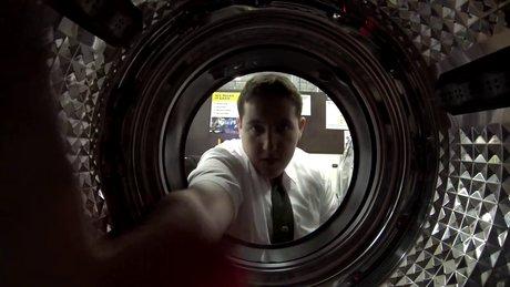 Çamaşır makinesinde kamera