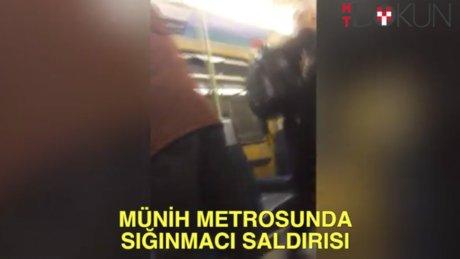 Münih Metrosunda sığınmacı saldırısı