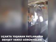 Somali'de uçakta yaşanan patlamanın görüntüleri ortaya çıktı