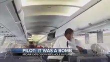 Somali'den Cibuti'ye giden uçakta patlama sonrası görüntüler