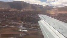 Sert iniş yapan uçaktaki Rus yolcular görüntü almanın mutluluğunu yaşadı