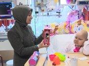 Sare Davutoğlu küçük Bade'yi ziyaret etti