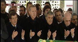 Abdullah Gül kayınpederini son yolculuğuna uğurladı