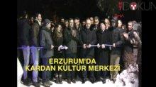 Erzurum'da 'kardan kültür' sokağı açıldı