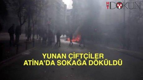 Atina'da çiftçi isyanı