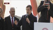 Davutoğlu Erzincan'da konuştu