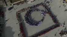 2 bin öğrenci istiklal marşını okudu