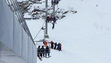 Kayak merkezinde kurtarma operasyonu