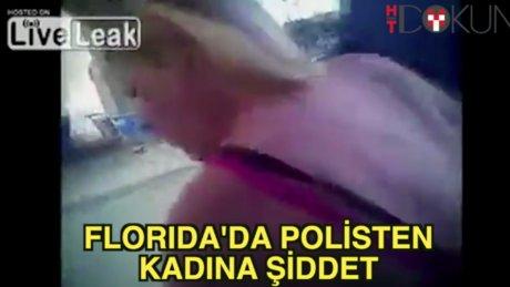Florida polisinden kadına şiddet