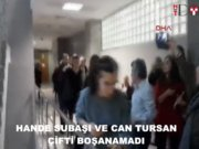 Hande Subaşı-Can Tursan çifti boşanmak için gitikleri mahkemeden boşanamadan çıktılar