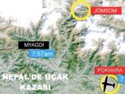 Nepal'de 23 yolcu ve mürettebat taşıyan küçük bir uçak dağa çakıldı