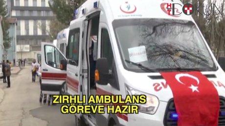 Zırhlı ambulans göreve hazır