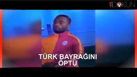 Wesley, Türk bayrağını öptü!