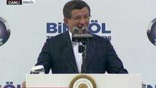 Davutoğlu Bingöl'de zaza dilinde selam verdi
