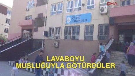 Adana'da lavaboyu musluğuyla götürdüler