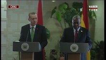 Cumhurbaşkanı Gana'da