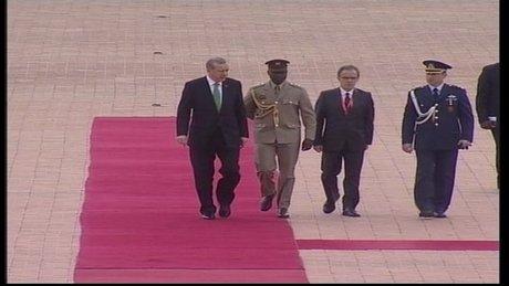 Cumhurbaşkanı Erdoğan Gana'da resmi törenle karşılandı