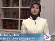 Sare Davutoğlu, engelliler için kamera karşısına geçti