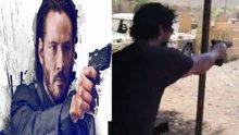 Keanu Reeves silah kullandı