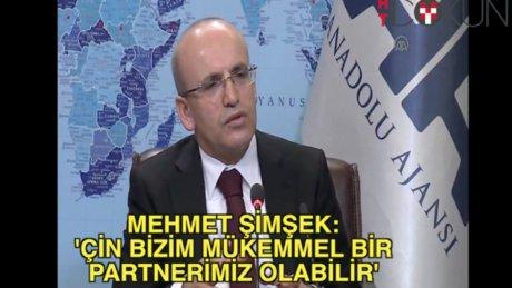 Mehmet Şimşek: 'Çin bizim mükemmel bir partnerimiz olabilir'
