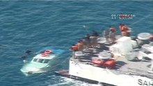 Didim'de batan teknedeki 15 göçmen böyle kurtarıldı