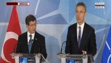 Davutoğlu, NATO sekreteri Jens Stoltenberg ile görüştü