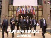 Davutoğlu, AB Zirvesi