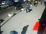 Okmeydanı'nda kaçan mahkumun görüntüleri