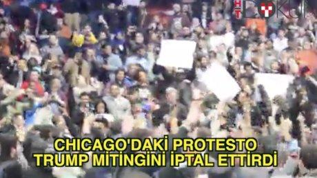 Trump'ın Chicago mitingi iptal