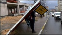 İstanbul'da fırtına etkili oldu