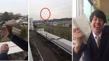 Liseli Japon öğrenciden uçak şov