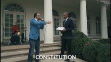 Başkan Obama freestyle rap için yardım etti