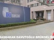 Davutoğlu Brüksel'de