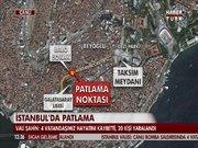 Taksim İstiklal caddesi'nde patlama (olay yeri)
