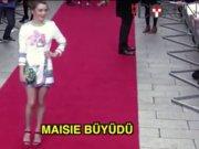 Arya rolündeki Maisie Williams büyüdü