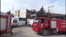 Hatay'da Suriyelilerin kaldığı yurtta yangın çıktı