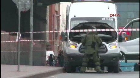 Mecidiyeköy'de şüpheli minibüs incelemesi tamamlandı