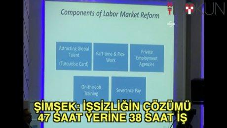 Mehmet Şimşek: İşsizliğin çözümü 38 saat mesai