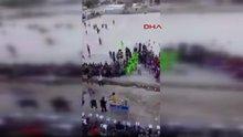 Bağdat'ta stadyuma saldırı anı kamerada