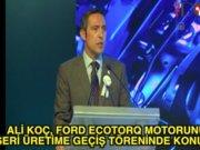 Ali Koç Ford'un töreninde konuştu