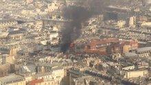 Paris'in merkezindeki bir binada patlama meydana geldi