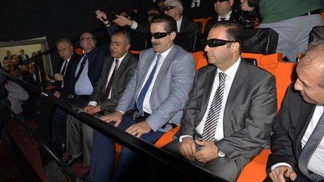 Bakan Çelik üç boyutlu film izledi