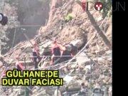 Gülhane'de duvar çöktü: 2 ölü