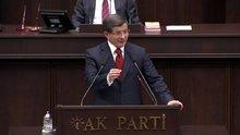 Davutoğlu, partisinin grup toplantısında konuştu