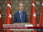 Cumhurbaşkanı Erdoğan Kılıçdaroğlu'nun sözlerini eleştirdi