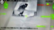 Teröristin vurulma anı kameralara yansıdı