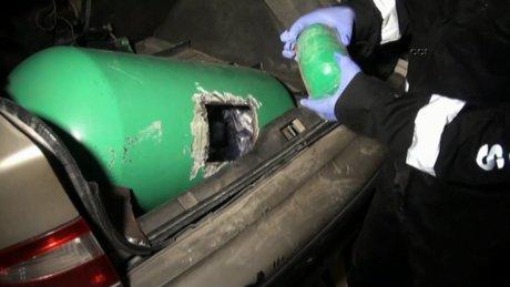 LPG tankında uyuşturucu