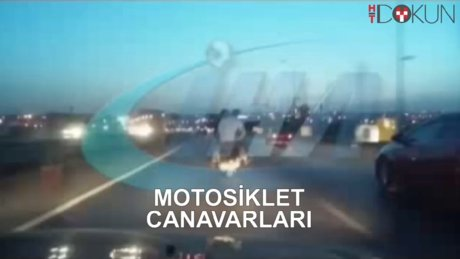 Motorsiklet üzerinde tehlikeli yolculuk