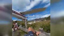 Uçak turiste böyle çarptı