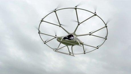 Drone'lar ile 'volocopter' yaptılar